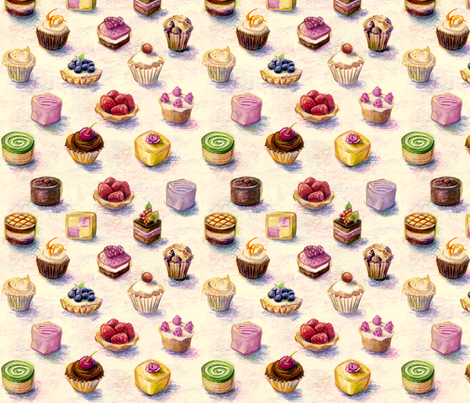 spoon_flower_cakes fabric by daniellehanson on Spoonflower - custom fabric