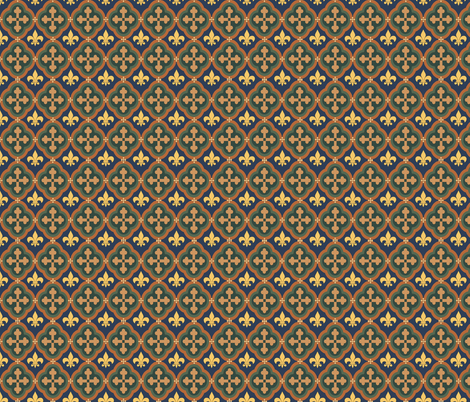 Medieval Repeat 1 fabric by poetryqn on Spoonflower - custom fabric