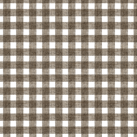 Gingham Natural fabric by kristopherk on Spoonflower - custom fabric