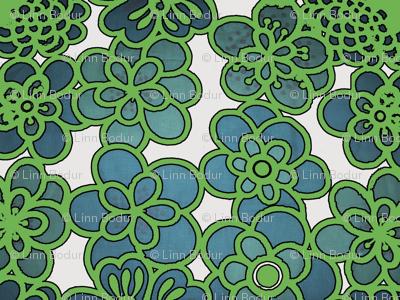 green_vintage_flowers