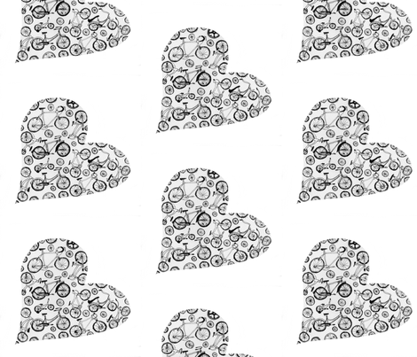 I love bicycles fabric by iliketosew on Spoonflower - custom fabric