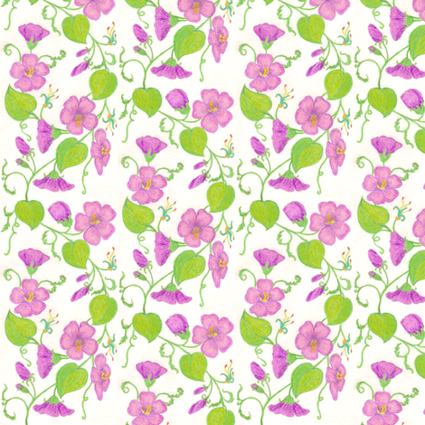 Crayon_Flowering_Vine_Fantasy fabric by victorialasher on Spoonflower - custom fabric