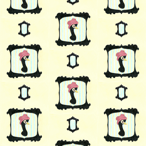 Little Black Swan fabric by waxypin on Spoonflower - custom fabric