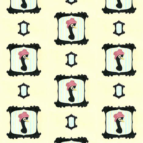 Little Black Swan fabric by waxypin on Spoonflower - custom fabric