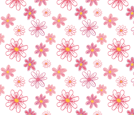 Girlie Flowers fabric by jenimp on Spoonflower - custom fabric