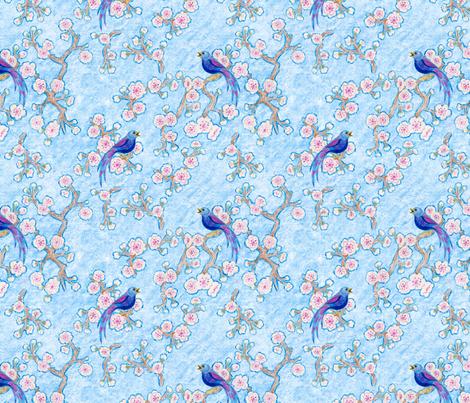 Cherry Blossom Song fabric by mytinystar on Spoonflower - custom fabric