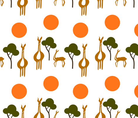 Savannah fabric by guapa on Spoonflower - custom fabric