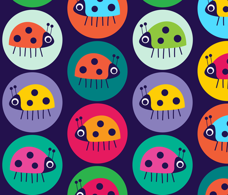 spot the BIG bug fabric by spellstone on Spoonflower - custom fabric