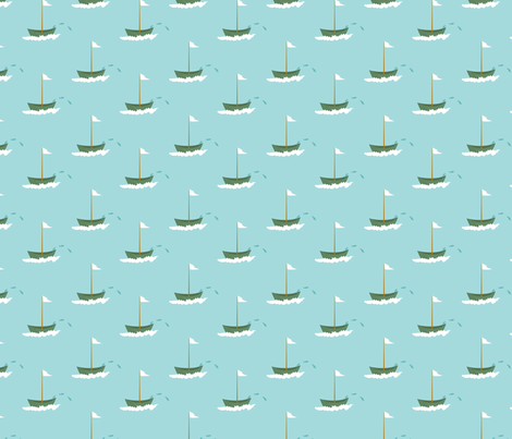fishing_boats fabric by vo_aka_virginiao on Spoonflower - custom fabric
