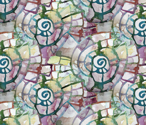 Watercolor Spirals fabric by helenklebesadel on Spoonflower - custom fabric