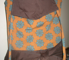 chocolate and turquoise paisley flower