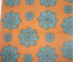 chocolate and turquoise paisley flowers