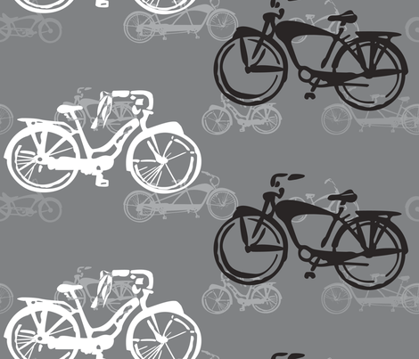 Cruiser bikes fabric by twobloom on Spoonflower - custom fabric