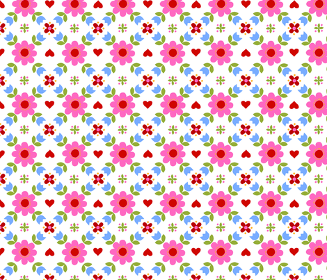 Retropattern pink fabric by katharinahirsch on Spoonflower - custom fabric
