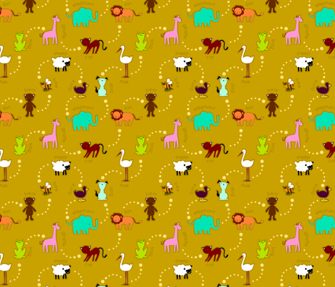 zoo_en_knit fabric by renule on Spoonflower - custom fabric