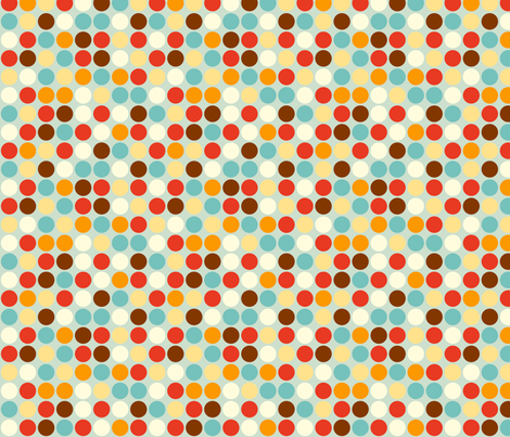Fox Polkadots fabric by hamburgerliebe on Spoonflower - custom fabric