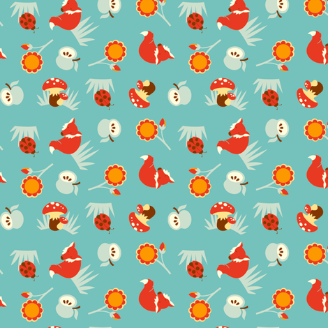 Fox and Friends fabric by hamburgerliebe on Spoonflower - custom fabric