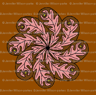 chocolate and pink paisley flower