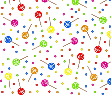 Lollipops fabric by jasmo on Spoonflower - custom fabric