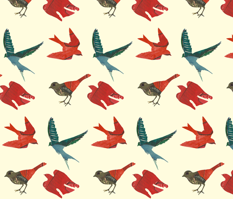 these birds fabric by narthex on Spoonflower - custom fabric