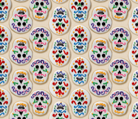 Day of the Dead cookies fabric by hannafate on Spoonflower - custom fabric
