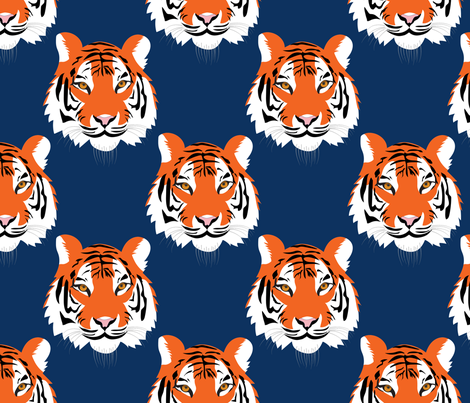 jungle tigers in auburn colors fabric by vo_aka_virginiao on Spoonflower - custom fabric