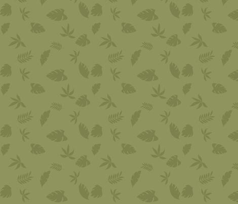 jungle_leaves_light_background_8 fabric by vo_aka_virginiao on Spoonflower - custom fabric