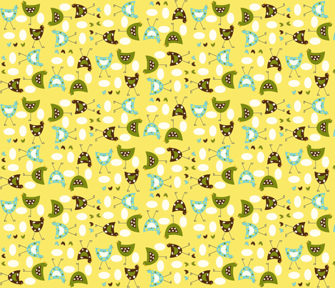 Here chickee chickee random fabric by cutiepoops on Spoonflower - custom fabric