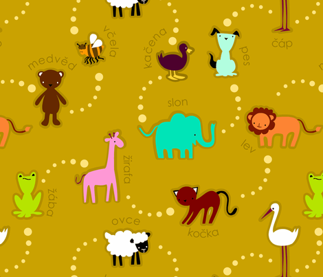 zoo fabric by renule on Spoonflower - custom fabric