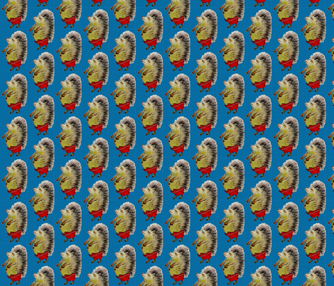 Blauer_Igel fabric by kindershop on Spoonflower - custom fabric