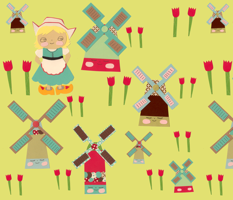 Little Dutch Girl fabric by heidikenney on Spoonflower - custom fabric