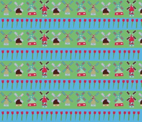 Windmills Striped fabric by heidikenney on Spoonflower - custom fabric