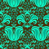 Damask_Turquoise_World