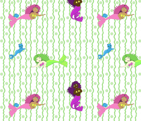 MerFriends fabric by bemusedart on Spoonflower - custom fabric