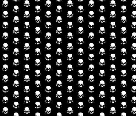 Skull sketch fabric by lindsay_henricks on Spoonflower - custom fabric
