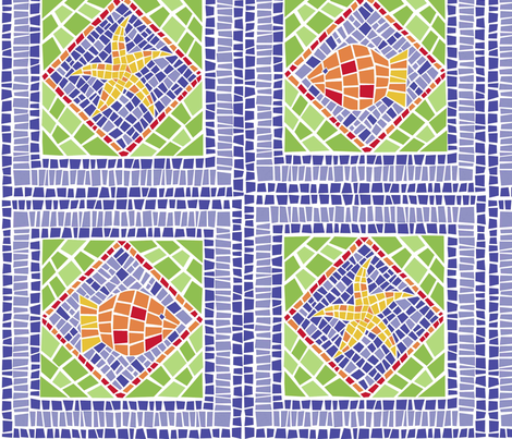 tiled_fish fabric by marnielong on Spoonflower - custom fabric