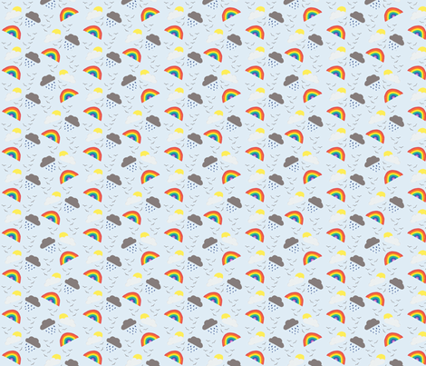 And now the weather. fabric by glanoramay on Spoonflower - custom fabric