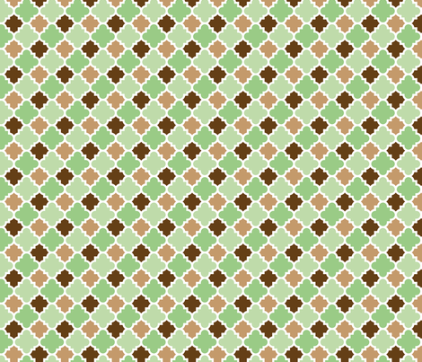 ice Cream Social :: Mint Chocolate Chip :: Tiles fabric by cottageindustrialist on Spoonflower - custom fabric