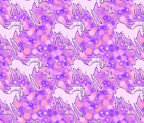 Lavender unicorns fabric by hannafate on Spoonflower - custom fabric