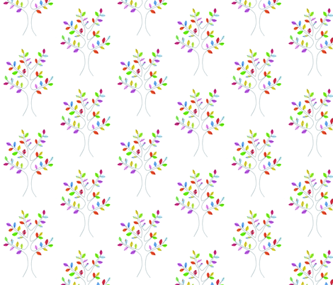 Spring tree fabric by syko on Spoonflower - custom fabric