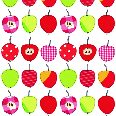 Sweet and sour apples fabric by syko on Spoonflower - custom fabric