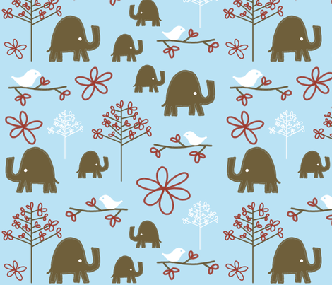 fabric_jungle_beauty fabric by emilyb123 on Spoonflower - custom fabric