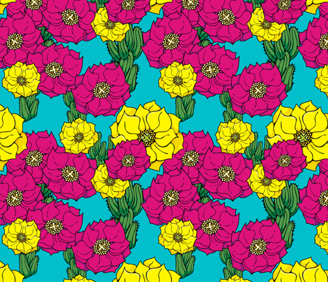 Cactus flowers fabric by hannafate on Spoonflower - custom fabric