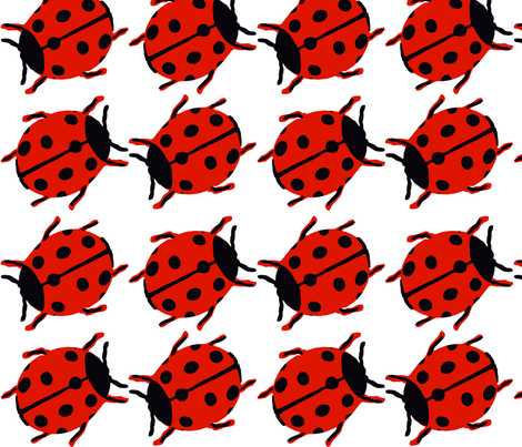 Ladybird pattern fabric by boredwall on Spoonflower - custom fabric