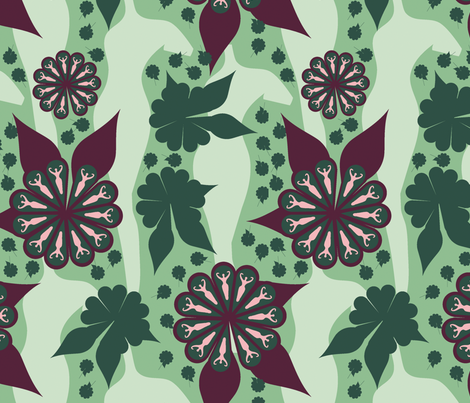 Daphne-gr-maroon-lab fabric by shanperrym on Spoonflower - custom fabric