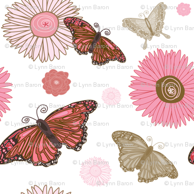 Pink and Brown Butterflies