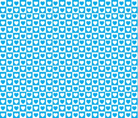 Checkered Hearts fabric by imaginarystory on Spoonflower - custom fabric