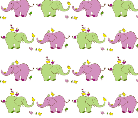 elephants fabric by jonilynette on Spoonflower - custom fabric