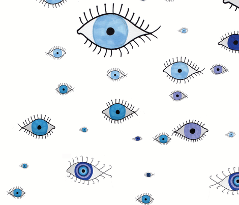 Blue_Eyes fabric by evie_q on Spoonflower - custom fabric