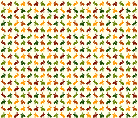 Bunny fabric by matida on Spoonflower - custom fabric